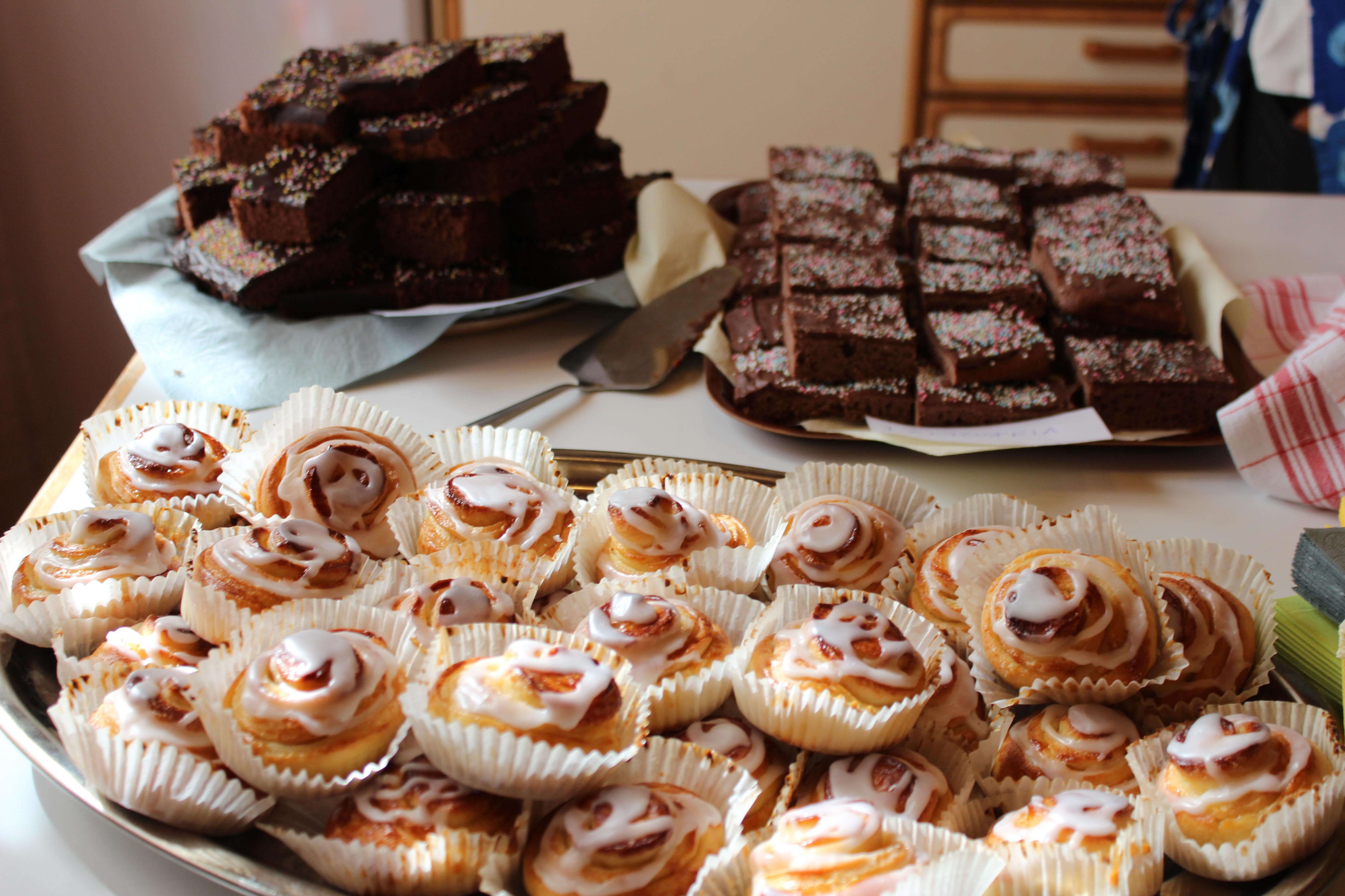 Tårtkalas i Luckan
