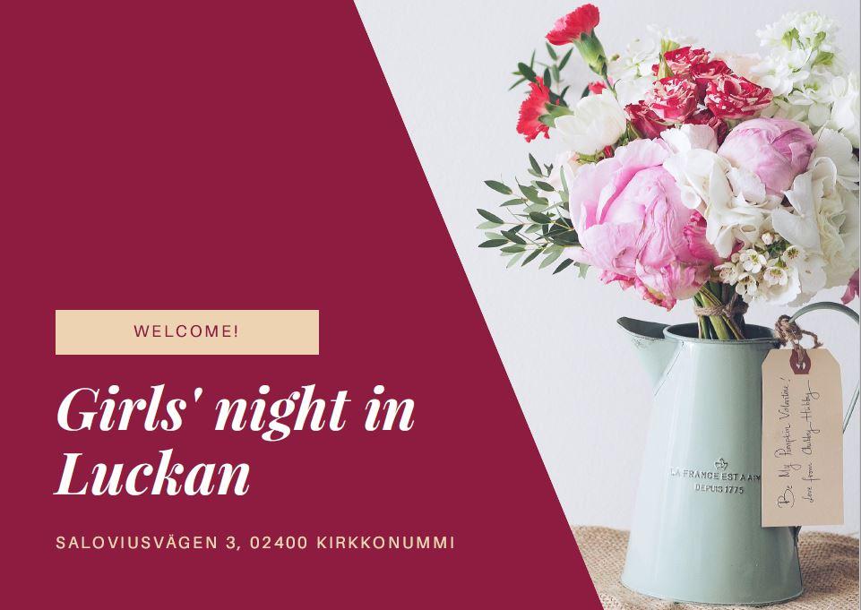 Girls' night in Luckan