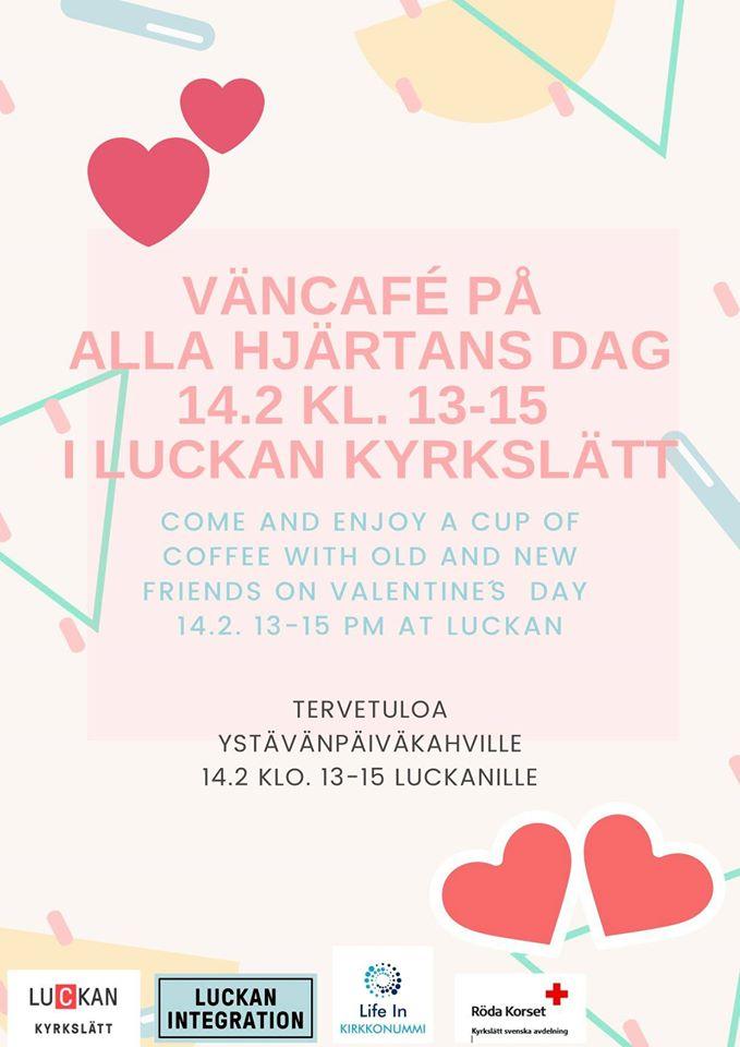 Väncafé 14.2.kl.13-15
