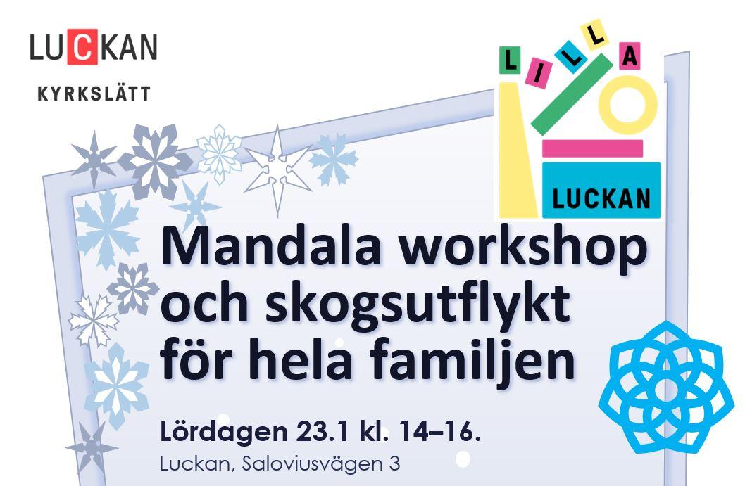 Mandala workshop och skogsutflykt för hela familjen